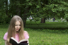 Learns in the park. The student learns in the park stock images