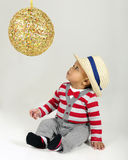 Leary of the Sparkly Ball Stock Photography