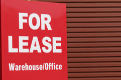 For Lease. Sign outside of a warehouse Royalty Free Stock Photography
