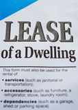 A lease. Lease of a dwelling, document, black words on white Stock Image