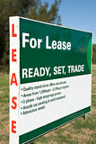 For Lease. Sign/Billboard advertising commercial property for lease Stock Photography