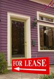 For lease. Building with for lease sign Royalty Free Stock Photo