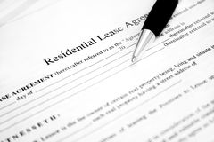 Lease Agreement Royalty Free Stock Image