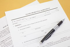 Lease agreement. Background photo of paper Lease agreement Royalty Free Stock Photos