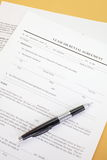 Lease agreement. Background photo of paper Lease agreement Stock Photos