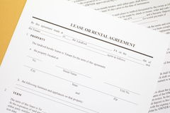 Lease agreement. Background photo of paper Lease agreement Royalty Free Stock Image