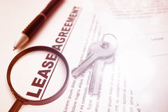 Lease Agreement Contract Royalty Free Stock Images