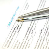 Lease agreement document Stock Photos