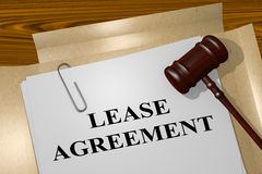 Lease Agreement - legal concept Stock Photo