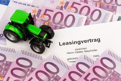 Lease agreement for new tractor Royalty Free Stock Photography