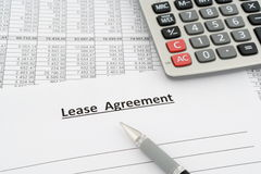 Lease agreement Royalty Free Stock Images