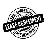 Lease Agreement rubber stamp. Grunge design with dust scratches. Effects can be easily removed for a clean, crisp look. Color is easily changed Stock Photo