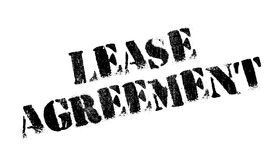 Lease Agreement rubber stamp. Grunge design with dust scratches. Effects can be easily removed for a clean, crisp look. Color is easily changed Stock Images
