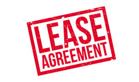 Lease Agreement rubber stamp. Grunge design with dust scratches. Effects can be easily removed for a clean, crisp look. Color is easily changed Stock Photos