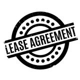 Lease Agreement rubber stamp. Grunge design with dust scratches. Effects can be easily removed for a clean, crisp look. Color is easily changed Royalty Free Stock Images