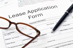 Lease Application Royalty Free Stock Photo