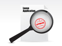 Lease Applications sign Stock Photography