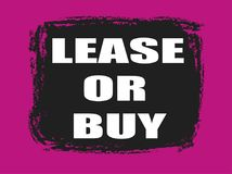 Lease or buy banner Stock Image