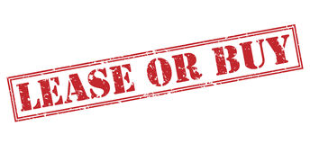 Lease or buy red stamp. On white background Stock Photo