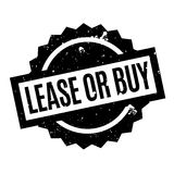 Lease Or Buy rubber stamp. Grunge design with dust scratches. Effects can be easily removed for a clean, crisp look. Color is easily changed Royalty Free Stock Image