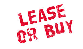 Lease Or Buy rubber stamp Royalty Free Stock Photography
