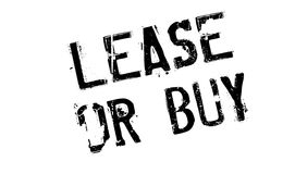 Lease Or Buy rubber stamp Royalty Free Stock Images
