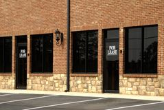 For Lease - Commercial Space. New commercial space available for lease Royalty Free Stock Images