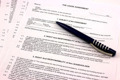 Lease contract Royalty Free Stock Photos