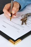 Lease contract Royalty Free Stock Photo