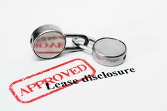 Lease disclosure. Close up of Lease disclosure Stock Photos