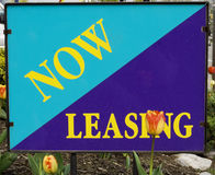 Lease a Home. Advertising that leasing is available stock photos