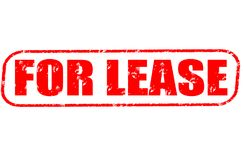 For lease stamp. For lease red stamp on white Royalty Free Stock Photos