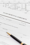 Lease or rental agreement form Stock Photography