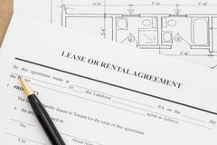 Lease or rental agreement form Stock Images