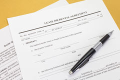 Lease or Rental agreement form Royalty Free Stock Image