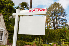 For lease sign on real estate Stock Photos
