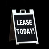 Lease Today Sign Stock Photography