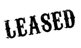 Leased rubber stamp Stock Photo