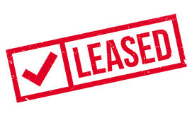 Leased rubber stamp Stock Photos