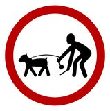 Leash and Clean up dog Royalty Free Stock Photos