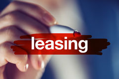 Leasing, business concept Royalty Free Stock Images