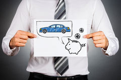 Leasing car concept. Royalty Free Stock Photo