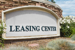 Leasing Center Sign Stock Image