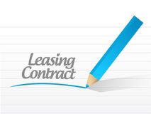 Leasing contract message illustration design Royalty Free Stock Photos