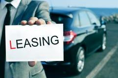 Leasing dell'automobile immagini stock