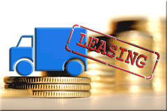 Leasing - a form of lending when you purchase expensive goods Royalty Free Stock Photos