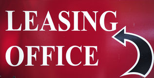 Leasing office sign. Stock Images