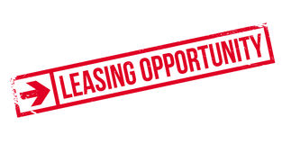 Leasing Opportunity rubber stamp Stock Photo