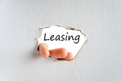 Leasing text concept Stock Images