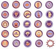 Leasure dos ícones Foto de Stock Royalty Free